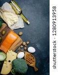 ketogenic diet. low carbs hight ... | Shutterstock . vector #1280913958