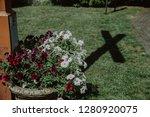 holy cross shadow near the... | Shutterstock . vector #1280920075