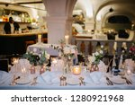 beautiful table decorations at... | Shutterstock . vector #1280921968