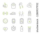 healthy lifestyle vector...   Shutterstock .eps vector #1280937952