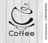 coffee logotype. stylized... | Shutterstock .eps vector #1280938468