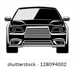 vector black car | Shutterstock .eps vector #128094002