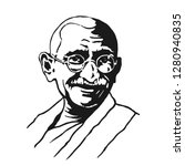 New Delhi - January 26, 2019: Mahatma Ghandi. India. vector Illustration. Eps 10.
