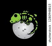 Disco Ball And Lizard Skeleton  ...