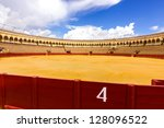 bullfight arena  plaza de toros ... | Shutterstock . vector #128096522