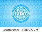 below water concept style badge. | Shutterstock .eps vector #1280977975