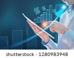 businessman using tablet... | Shutterstock . vector #1280983948