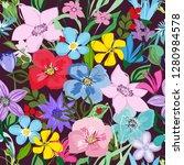 abstract flower seamless... | Shutterstock .eps vector #1280984578