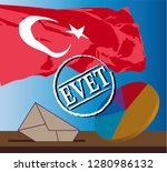 the election in urkey 2019 with ... | Shutterstock .eps vector #1280986132