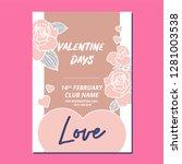 valentine vector template | Shutterstock .eps vector #1281003538
