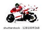 Road Motorbike  Low Polygonal...