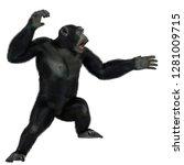 Chimpanzee In A White...
