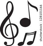 Stock vector black music note 128101166