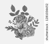 vintage vector floral...   Shutterstock .eps vector #1281036652