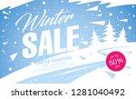 winter sale banner template...   Shutterstock .eps vector #1281040492
