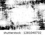 rough grunge pattern design.... | Shutterstock .eps vector #1281040732