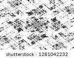 rough grunge pattern design.... | Shutterstock .eps vector #1281042232