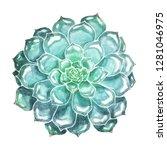 large bright blue green... | Shutterstock . vector #1281046975
