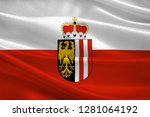 flag of upper austria is one of ... | Shutterstock . vector #1281064192