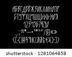 sharp gothic neon linear tube... | Shutterstock .eps vector #1281064858