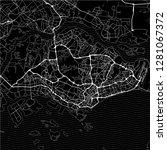 dark area map of singapore.... | Shutterstock .eps vector #1281067372