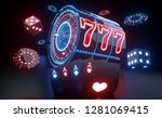 casino gambling concept with... | Shutterstock . vector #1281069415