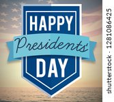 happy presidents day against... | Shutterstock . vector #1281086425