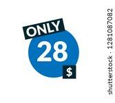 28 dollars only   emblem  label ...