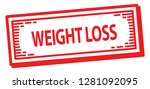weight loss rubber stamp | Shutterstock .eps vector #1281092095