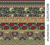 chinese style fabric patchwork...   Shutterstock .eps vector #1281092248
