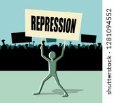 repression transparent  protest ... | Shutterstock .eps vector #1281094552
