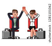 business man and woman chillin... | Shutterstock . vector #1281101062