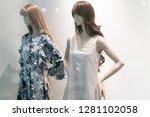 fashion concept   female... | Shutterstock . vector #1281102058