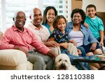 portrait of multi generation... | Shutterstock . vector #128110388