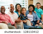 portrait of multi generation... | Shutterstock . vector #128110412