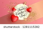 happy valentine's day festive... | Shutterstock .eps vector #1281115282