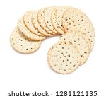 tasty pechenne with flax seeds. ...   Shutterstock . vector #1281121135