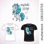 sweet pony princess.  little... | Shutterstock .eps vector #1281125725
