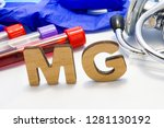 mg abbreviature mean magnesium... | Shutterstock . vector #1281130192