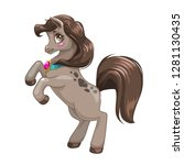 beautiful little brown young... | Shutterstock .eps vector #1281130435