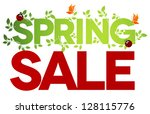 spring sale design. beautiful... | Shutterstock .eps vector #128115776