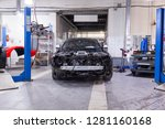 disassembled black car in the...   Shutterstock . vector #1281160168