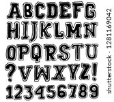 classic college font. vintage...   Shutterstock .eps vector #1281169042
