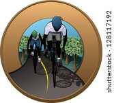 cycling patch | Shutterstock .eps vector #128117192