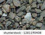 pebble stone wall   Shutterstock . vector #1281190408