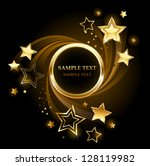 round golden banner with gold ... | Shutterstock .eps vector #128119982
