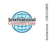 international customs day vector   Shutterstock .eps vector #1281213805