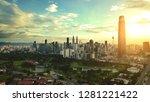 kuala lumpur sunset drone view | Shutterstock . vector #1281221422