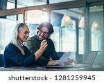 business people meeting in... | Shutterstock . vector #1281259945