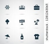 season icons set with suitcase  ... | Shutterstock .eps vector #1281263065
